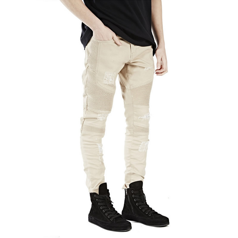 jeans men Pencil Pants frayed khaki jeans balmai homme robin distressed pants hip hoop denim straight biker ripped street wearОдежда и ак�е��уары<br><br><br>Aliexpress