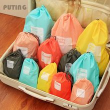 Hot Zakka 4pcs/lot Waterproof Travel Storage Bag Cosmetic Underwear Organizer Shoe Laundry Pouch XHH8046(China)