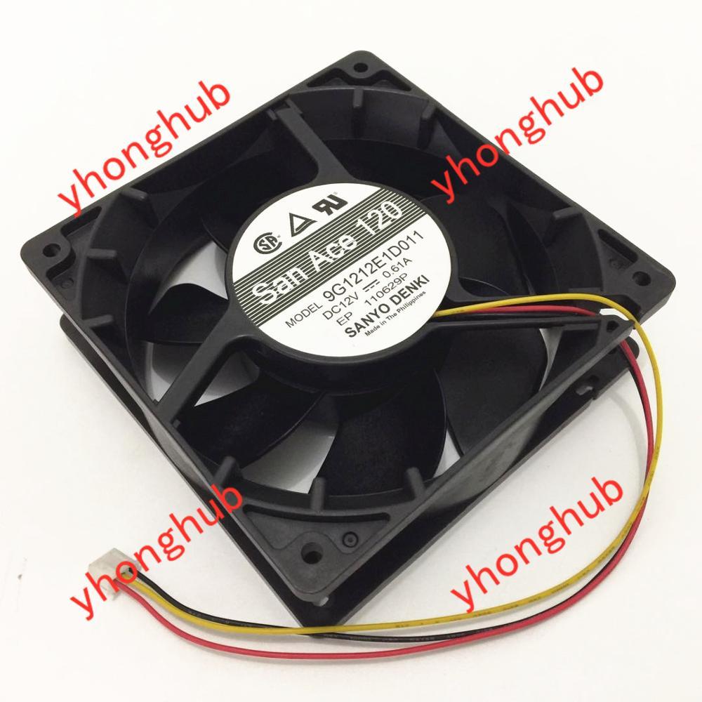 1 PCS   SANYO Fan 9GV3612P3J04 DC 12V 0.75A  4  Pin 36x36x28mm
