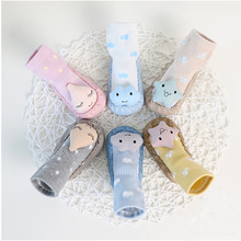 Baby shoes socks Children Infant Cartoon Socks Baby Gift Kids Indoor Floor Socks Leather Sole Anit-Slip Thick Towel Socks