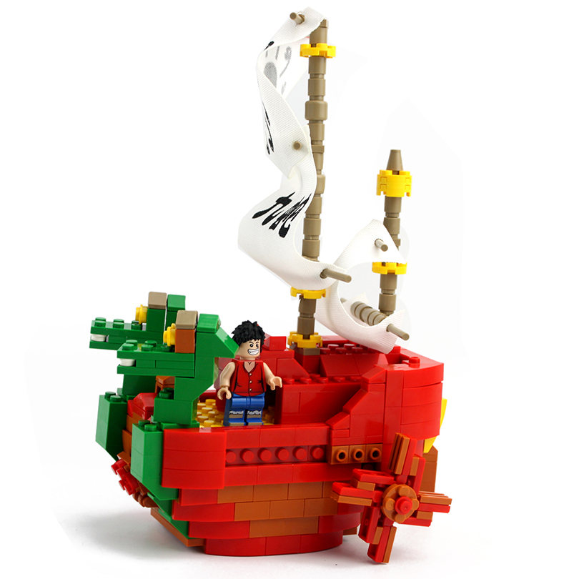 Cartoon Pirate Caribbean Ship 580PCS Kids Hydra Educational Pirate Ship Building Blocks Toy Bricks Enlighten Pirate Ship Design<br>