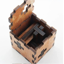 Kids Toys Cube A Wooden Toys Of 3d Puzzle Also For Adult Kong Ming Lock A Good Gift From Ancient Wise Men For You Familys(China)