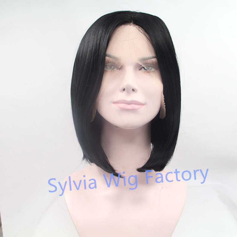Natural look short nature straight wig black cosplay wigs lace front wig exquisite synthetic hair for black woman in stock<br><br>Aliexpress