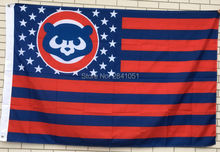 Chicago Cubs Throwback USA Star and Stripes Team American Outdoor Indoor Hockey Baseball Flag 3X5 Custom USA Any Team Flag(China)