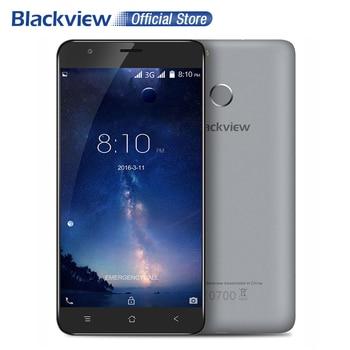 Blackview E7S Mobile Téléphone 5.5 pouce IPS HD MTK6580A Quad Core Android 6.0 2 GB RAM 16 GB ROM 8MP CAM 3G D'empreintes Digitales ID Smartphone