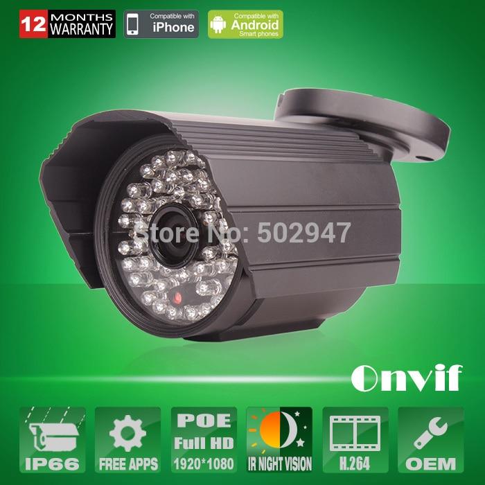 Onvif H.264 1080P 2.0 Megapixel HD POE IP Network Camera Security CCTV Waterproof 48 IR Low Lux Video Surveillance Camera FTP<br><br>Aliexpress