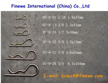 Manufacture Cotter pin, R Split Cotter Pin, R Clip, Hair Cotter Pin, Customized Steel Spring R Pin