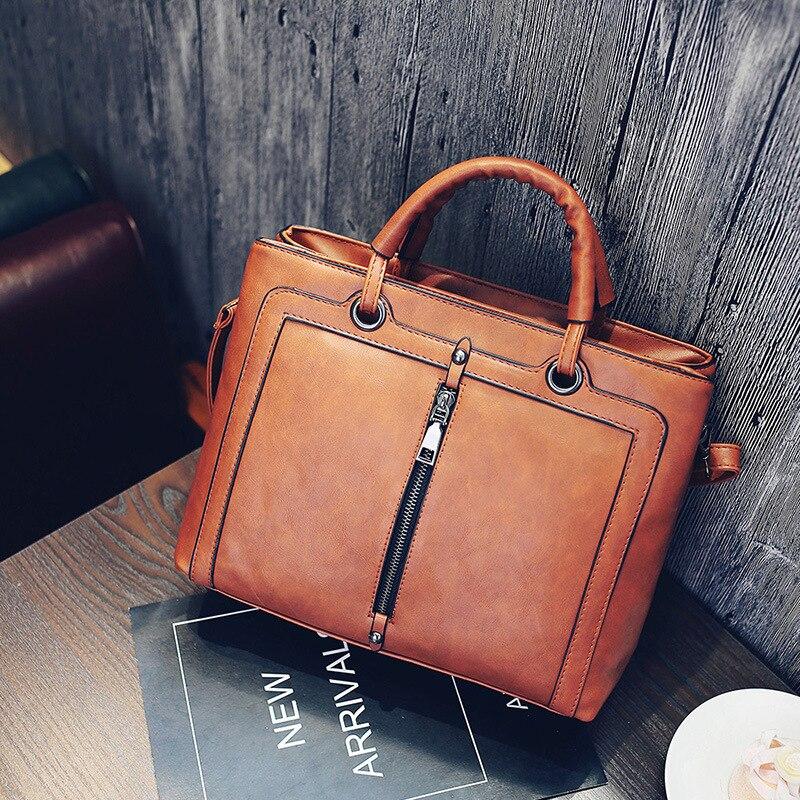 Woman Handbags Lady Bag Winter Retro Medium Business PU Leather Satchels Tote Bag Women Crossbody Bag Bolsos Sac A Main Femme<br><br>Aliexpress