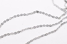 Beads Silver Tone Links-Opened Cable Chains Findings 3x2mm, sold per lot of 10M(China)