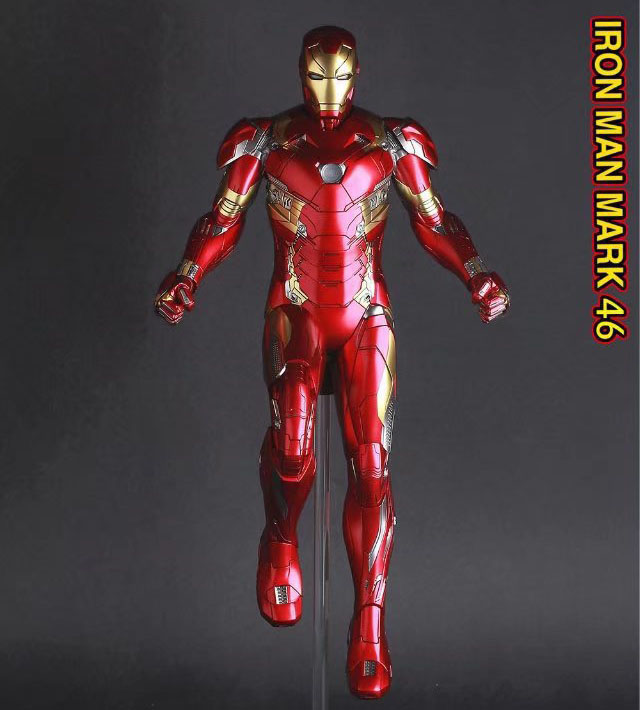 Free Shipping 12 Super Hero Ironman Iron Man Mark 46 MK IVVI CT Ver. Boxed 30cm PVC Action Figure Collection Model Doll Toy<br>