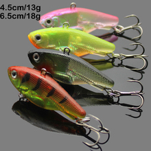 3pcs /lot Soft Pesca VIB lures for Sea Bass Fishing Jig Head Soft Baits With Treble Hooks