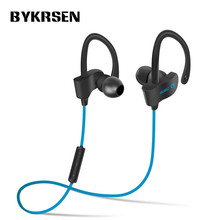 New BYKRSEN Sports Wireless Bluetooth Earphone Stereo Earbuds Headset Bass Earphones with Mic In-Ear for iPhone Samsung LG Phone(China)