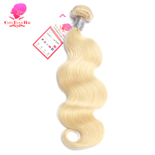 QUEEN BEAUTY HAIR 1PC 613 Blonde Hair Brazilian Body Wave Remy Hair Weft Human Hair Weave Bundles 8inch To 30inch Free Shipping(China)