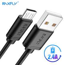 RAXFLY Micro USB Cable Samsung S6 S7 Edge 2.4A Fast Charge USB Charging Data Cable Xiaomi Redmi Note 5 Pro 4X Wire Cord