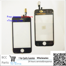 100% guarantee New  For iphone 3G 3GS 3S Touchscreen Touch screen Panel Digitizer Black 1 year Warranty