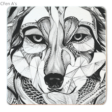 CFen A's  Creative Animal wood Coasters Cup Pad Non-slip heat proof coffee drink Coasters Cup Mat,DIY hand painted,2pcs/lot,FYY