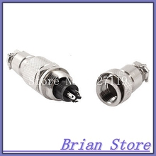 AC 125V 5A 3 Pin Male Female Screw Butt Joint Cable Connecting Aviation Plug(China)