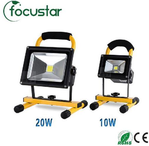 10W 20W Floodlight Rechargeable LED Flood Light Lamp portable Outdoor Spotlight Camping Work Light with DC Car Charger<br>