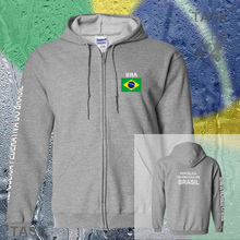 Brazil Bra Brasil Brazilian mens hoodies and sweatshirt jerseys polo sweat new streetwear tracksuit nations fleece zipper flags(China)