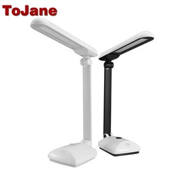 ToJane TG2309 Dimmable Led Desk Lamp Eye Protection Desktop Table Light Folding Arm Led Desk Light 9-Level Brightness&Color 8W