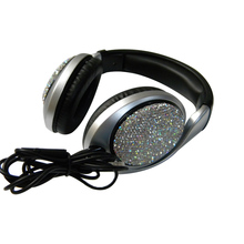 Newest Line Type Wired Rhinestones Headset Top Quality Soundtrack Gaming Headset Environmentally Friendly Material Earphone EP11