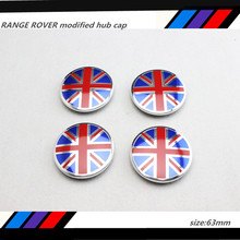 4 X BLACK British flag 63MM WHEEL Hub Center LOGO Cap BADGE EMBLEM Metal Aluminum for LAND RANGE ROVER Evoque Discovery