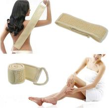 1 PC Hot Sale Bath Shower Body Scrubber Brush Body Sponge Easy to use very convenient Exfoliating Back Strap S10DI49(China)