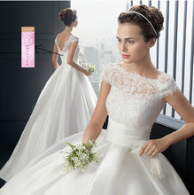Cheap 2015 Hot Strapless white ivory Sweetheart Bridal Wedding Dress Formal Gown Free Shipping with sleeve lace