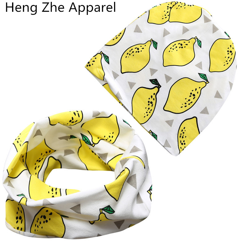 new cotton scarf +hat sets for baby under 3 years winter warm collars +caps suits children beanies wraps headbands accessories