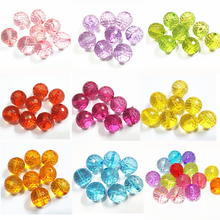 12mm-500pcs/bag ,20mm 100pcs/bag Transparent Many Irregular Faceted Round Chunky Beads