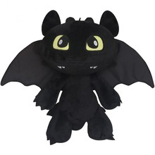 30cm 2016 Hot Toys How To Train Your Dragon 2 Plush Toy Toothless Dragon Stuffed Animal Dolls Movie Toys For Children