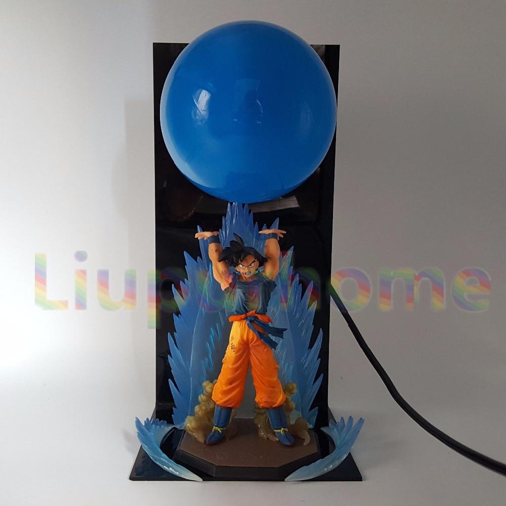Dragon Ball Z Son Goku DIY Led Night Lights Anime Dragon Ball Spirit Bomb DBZ Led Table Lamp Christmas Decor Luces Navidad
