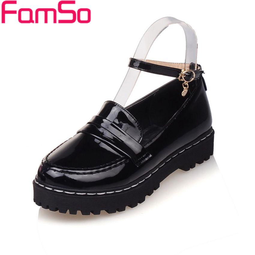 Plus Size34-43 2017 Shoes Women Loafers Shoes Black Spring Autumn Low Shoes Platforms Womens Flats Shoes FS507<br><br>Aliexpress