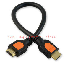 Free Shipping 100pcs 0.3M HDMI Cable Adaptor for HDTV 1080p Hight Speed HD 3D 30Cm 1ft Short HDMI Cable