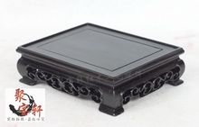 Square base ebony wood carving household act the role ofing is tasted Buddha vase stone arts and crafts