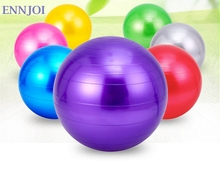 ENNJOI  55CM Multi-Use Burstproof PVC Exercise Yoga Ball with a Pump Indoor Use Training Fitness Yoga Ball Balance Pilates
