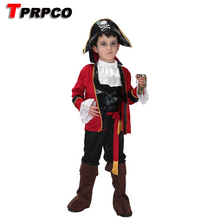 Children's Classic Halloween Costumes Boys Pirate Costume Kids Girls Cosplay Jack Sparrow Christmas Carnival For Kids CO75202214(China)