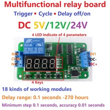 DC 5V 12V 24V Multifunction Delay Relay Time Switch Turn on/off PLC Module(China)