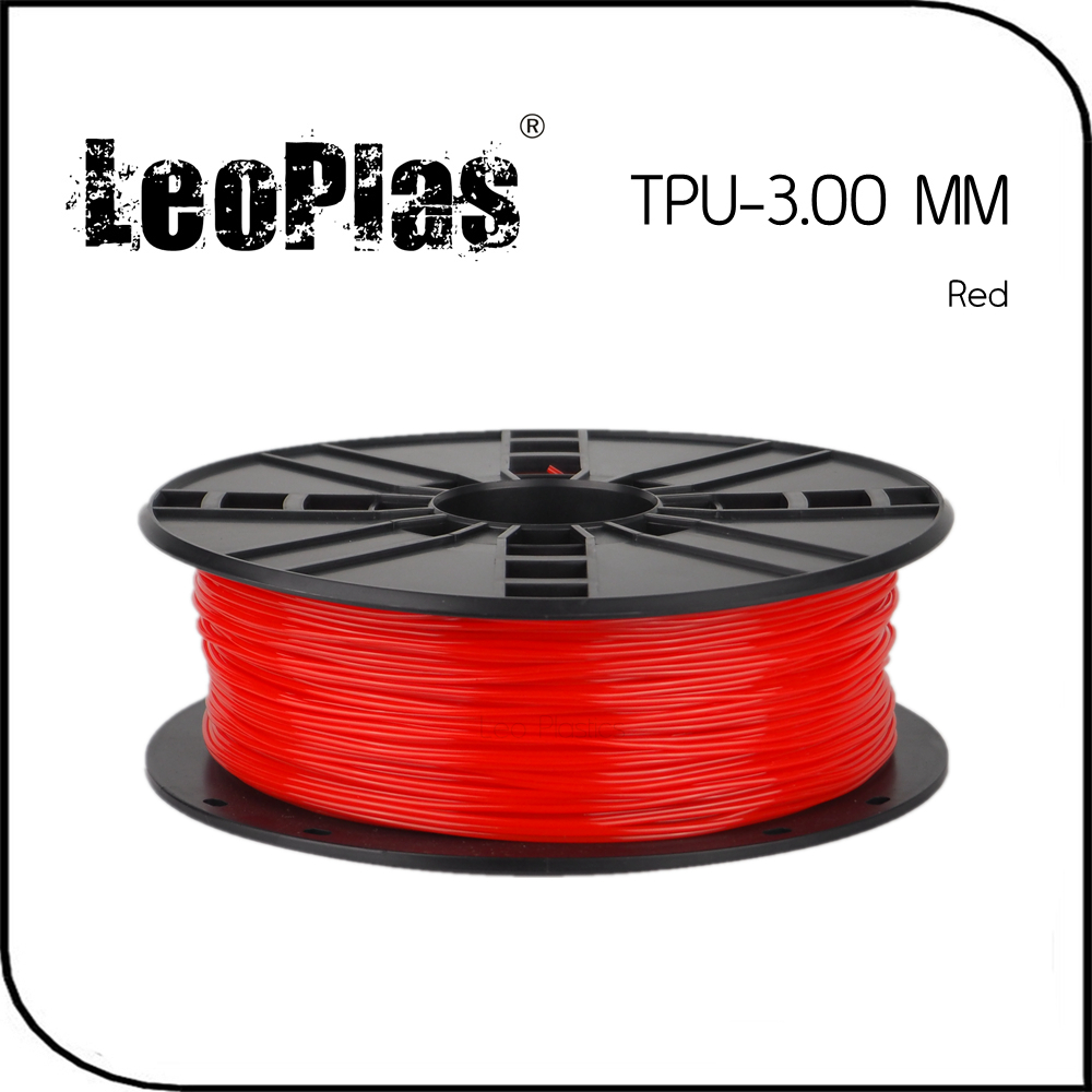 Worldwide Fast Delivery Manufacturer 3D Printer Material 1kg 2.2lb Soft Rubber 3mm Flexible Red TPU Filament<br>