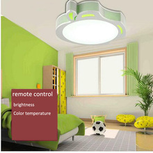 Cartoon Children Room Acryl LED Ceiling Lamp Apple Shape Remote Control Double Color Segmentation Light Eye-protective Lamp(China)