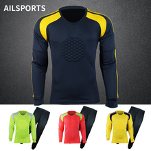 2017 New Breathable Quick Dry Kids Boys Soccer Training Suit Goalkeeper Jerseys Set survetement football DIY Printing Customized