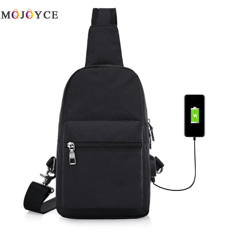 Polyester Men Messenger Bags Stylish Cross body Bag High Quality Travel Bags USB Charging line connector bags designer(China)
