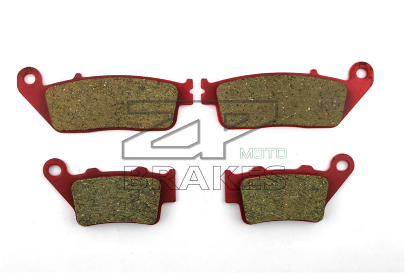 Motorcycle Brake Pads For YAMAHA WR 125 X 2009-2014 Front + Rear Carbon Ceramic Composite High Quality<br>