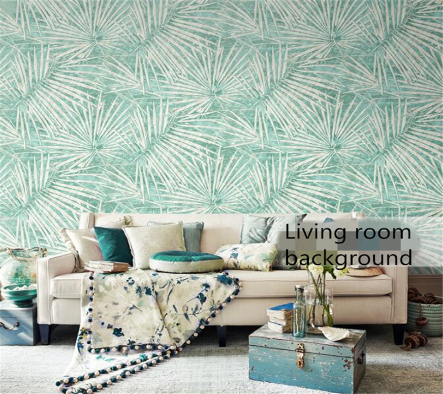 Beibehang Modern high quality palm tree leaves Bedroom Living room TV background wallpaper Southeast Asian style 3D wallpaper<br>