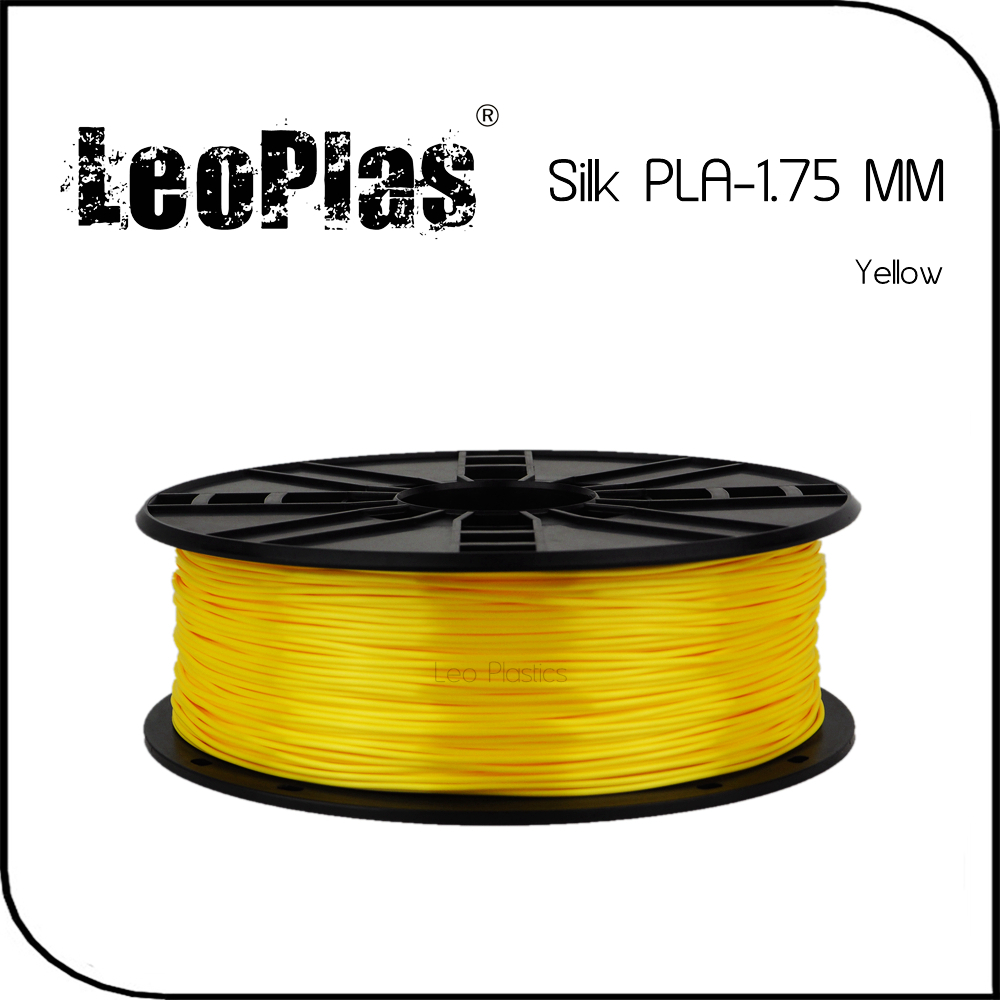 Worldwide Fast Delivery Direct Manufacturer 3D Printer Material 1 kg 2.2 lb 1.75mm Yellow Silk PLA Filament<br>