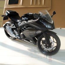 (5pcs/pack) Wholesale Brand New Motorbike Model Toys 1/12 Scale Black Kawasaki Ninja Diecast Motorcycle Model Toy For Gift/Kids