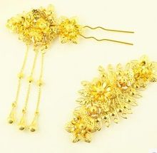 golden hair accessories vintage wedding hair accessories vintage hair accessories chinese ancient princess cosplay accessories(China)
