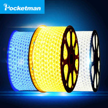 LED Strip Flexible light 1M/2M/3M/4M/5M/6M/7M/8M/9M/10M/15M/20M +Power Plug,60leds/m Waterproof led light SMD 5050 AC 220V ZK50(China)