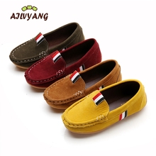 Buy Spring Autumn Boys Girls Shoes Children Boys PU Leather Shoes Kids Moccasin Loafers Toddlers Casual Single Flats Sneakers for $6.60 in AliExpress store