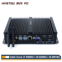 Hystou Fanless Mini PC Core i7 5550U Intel NUC i5 i3 Mini PC Windows 10 TV Box HDMI VGA Thin Client Rugged Industrial ITX PC IPC(China)